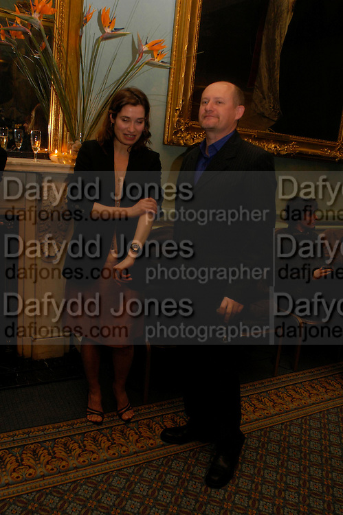 Emmanuelle Devos and Jean-Paul Salome.  The Renault French Film season 2005 Press launch. Institute of Directors. 116 Pall Mall. London Sw1. 31 March 2005. ONE TIME USE ONLY - DO NOT ARCHIVE  © Copyright Photograph by Dafydd Jones 66 Stockwell Park Rd. London SW9 0DA Tel 020 7733 0108 www.dafjones.com