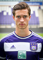 Anderlecht's Matthys Herve pictured during the 2015-2016 season photo shoot of Belgian first league soccer team RSC Anderlecht, Tuesday 14 July 2015 in Brussels.