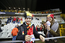 November 14, 2017 - Brugge, BELGIUM - Belgium's supporters arive in stands for a friendly soccer game between Belgian national team Red Devils and Japan, Tuesday 14 November 2017, in Brugge...BELGA PHOTO BRUNO FAHY (Credit Image: © Bruno Fahy/Belga via ZUMA Press)