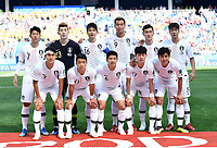 Team Suedkorea oben v.l. Heung-Min Son, Torwart Hyun-Woo Cho, Sung-Yong Ki, Shin-Wook Kim, Yong Lee, Young-Gwon Kim<br /> unten v.l. Yong Lee, Hee-Chan Hwang, Joo-Ho Park, Jae-Sung Lee, Seung-Hyun Jung<br /> Nischni Nowgorod, 18.06.2018, FIFA Fussball WM 2018 in Russland, Vorrunde, Schweden - Suedkorea 1:0<br /> Sverige - Syd-korea<br /> <br /> Norway only