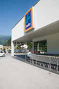 Hofer (Aldi) discount supermarket Photographed in Austria