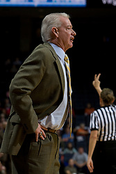 George Washington Colonials head coach Joe McKeown..The Virginia Cavaliers women's basketball team fell to the #14 ranked George Washington Colonials 70-68 at the John Paul Jones Arena in Charlottesville, VA on November 12, 2007.