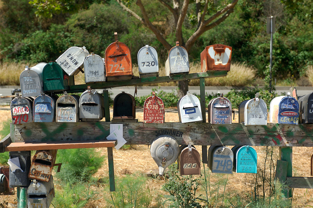 Mail boxes, Sausalito, California, United States of America