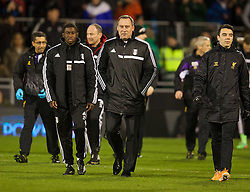 LONDON, ENGLAND - Wednesday, February 12, 2014: Fulham's manager Rene Meulensteen before the Premiership match against Liverpool at Craven Cottage. (Pic by David Rawcliffe/Propaganda)