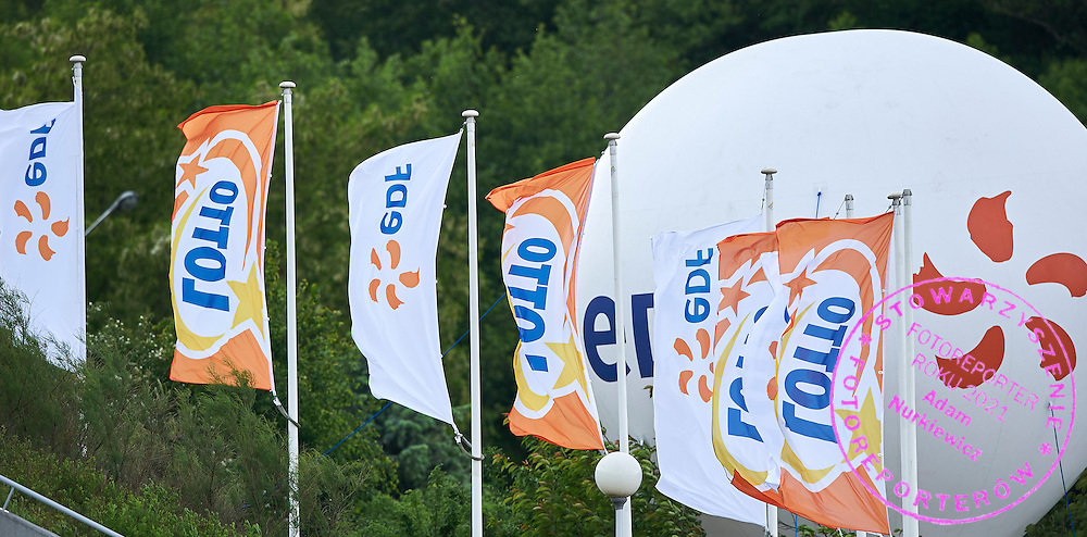 Lotto &amp; EDF advertise during second day the 2015 European Rowing Championships on Malta Lake on May 30, 2015 in Poznan, Poland<br /> Poland, Poznan, May 30, 2015<br /> <br /> Picture also available in RAW (NEF) or TIFF format on special request.<br /> <br /> For editorial use only. Any commercial or promotional use requires permission.<br /> <br /> Mandatory credit:<br /> Photo by &copy; Adam Nurkiewicz / Mediasport