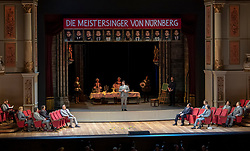 07.04.2019, Grosses Festspielhaus, Salzburg, AUT, Salzburger Osterfestspiele, Fotoprobe, Die Meistersinger von Nürnberg (Oper von Richard Wagner), im Bild Die Meistersinger // during the rehearsal of the opera the Mastersingers of Nuremberg (Opera by Richard Wagner). The Salzburg Easter Festival takes place from 13 April to 23 April  2019, at the Grosses Festspielhaus in Salzburg, Austria on 2019/04/07. EXPA Pictures © 2019, PhotoCredit: EXPA/ Ernst Wukits