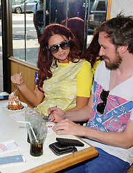Former TOWIE star Amy Childs enjoys a lunch with friends at a Wimpy bar in Bexleyheath, UK. 17/07/2014<br />BYLINE MUST READ : GOTCHAIMAGES.COM<br /><br />Copyright by © Gotcha Images Ltd. All rights reserved.<br />Usage of this image is conditional upon the acceptance <br />of Gotcha Images Ltd, terms and conditions available at<br />www.gotchaimages.com