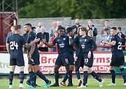 Dundee&rsquo;s Jean Alassane Mendy is congratulated after scoring - Brechin City v Dundee pre-season friendly at Glebe Park, Brechin, <br /> <br /> <br />  - &copy; David Young - www.davidyoungphoto.co.uk - email: davidyoungphoto@gmail.com