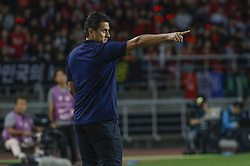 September 7, 2018 - Goyang, Gyeonggi, South Korea - September 7, 2018-Goyang, South Korea-Ronald Gonzalez of Costa Rica Coach action on the fieldside during an Football A Match South Korea vs Costa Rica at Goyang Sports Complex in South Korea. Match Won South KOrea, Score by 2-0. (Credit Image: © Ryu Seung-Il/ZUMA Wire)