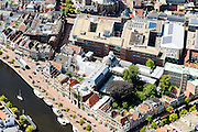 Nederland, Noord-Holland, Haarlem, 01-08-2016; centrum Haarlem, met aan het Spaarne het Teylersmuseum en direct daar achter Rechtbank Haarlem.<br /> City centre Haarlem.<br /> luchtfoto (toeslag op standard tarieven);<br /> aerial photo (additional fee required);<br /> copyright foto/photo Siebe Swart