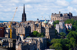 Skyline view of Edinburgh from Calton Hill, Scotland, United Kingdom.