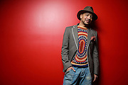 Tondrae James poses for a portrait at Le Poisson Rouge as part of the Red Bull Sound Select Series in New York, NY on February 19, 2014.