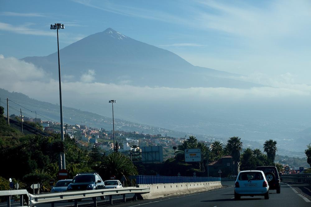 View of teide from El Sauzal, Tenerife.