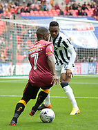 Bradford City Mark Marshall battles with Millwall defender Mahlon Romeo  during the Sky Bet League 1 play-off final at Wembley Stadium, London<br /> Picture by Glenn Sparkes/Focus Images Ltd 07939664067<br /> 20/05/2017