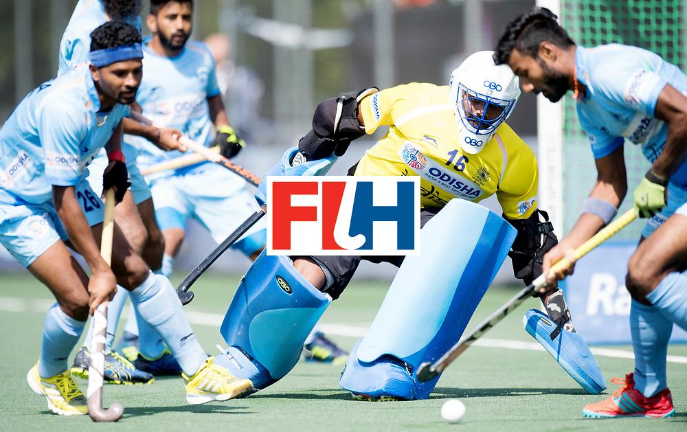 BREDA - Rabobank Hockey Champions Trophy<br /> The Netherlands - India<br /> Photo: Sreejesh Parattu/<br /> COPYRIGHT WORLDSPORTPICS FRANK UIJLENBROEK
