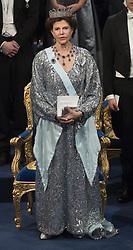 Kˆnigin Silvia bei der Nobelpreisverleihung 2016 in der Konzerthalle in Stockholm / 101216 ***The annual Nobel Prize Award Ceremony at The Concert Hall in Stockholm, December 10th, 2016***