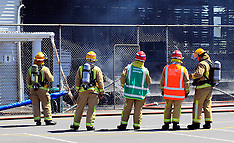 Auckland-Grandstand damaged by fire, Windmill Courts, Mt Eden