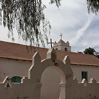 The church of San Pedro de Atacama is the second oldest church in Chile, built during the colonization by spanish conquistadors.