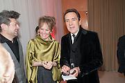 ANDY SERKIS; LORRIANE ASHBOUREN; ROBERT LINDSAY, English National Ballet's celebrates their Christmas season at the London Coliseum,  St Martins Lane hotel. London. 13 December 2012.