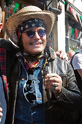 © Licensed to London News Pictures. 06/07/2014. London, England. Adam Ant attends the event. Celebrities attend the 65th Anniversary Celebrations of Bar Italia in Frith Street, Soho, London, in aid of Great Ormond Street Hospital. Photo credit: Bettina Strenske/LNP