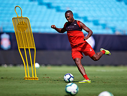 CHARLOTTE, USA - Saturday, July 21, 2018: Liverpool's Daniel Sturridge during a training session at the Bank of America Stadium ahead of a preseason International Champions Cup match between Borussia Dortmund and Liverpool FC. (Pic by David Rawcliffe/Propaganda)