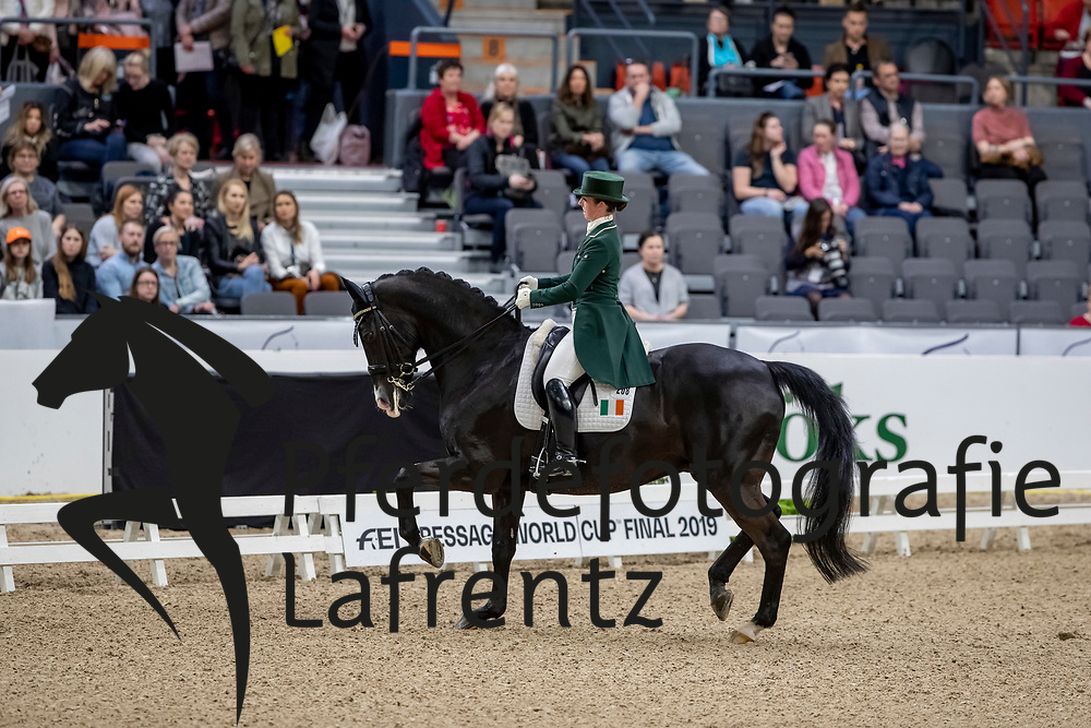 REYNOLDS Judy (IRL), Vancouver K<br /> Göteborg - Gothenburg Horse Show 2019 <br /> FEI Dressage World Cup™ Final I<br /> Int. dressage competition - Grand Prix de Dressage<br /> Longines FEI Jumping World Cup™ Final and FEI Dressage World Cup™ Final<br /> 05. April 2019<br /> © www.sportfotos-lafrentz.de/Stefan Lafrentz