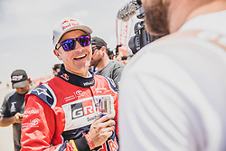 Giniel de Villiers (ZAF) of Toyota Gazoo Racing SA at the finish line after the last stage of Rally Dakar 2019 from Pisco to Lima, Peru on January 17, 2019. // Flavien Duhamel/Red Bull Content Pool // AP-1Y5HCGCP92111 // Usage for editorial use only // Please go to www.redbullcontentpool.com for further information. //
