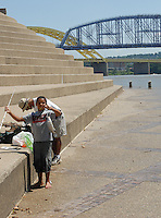 Serpentine Wall Downtown Cincinnati Riverfront Fishing