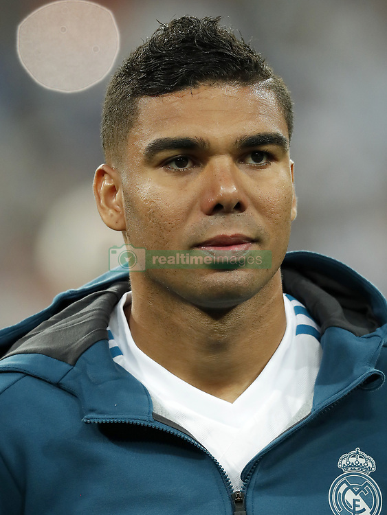 Casemiro of Real Madrid during the UEFA Champions League group H match between Real Madrid and APOEL FC on September 13, 2017 at the Santiago Bernabeu stadium in Madrid, Spain.