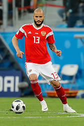 June 19, 2018 - Saint Petersburg, Russia - Fedor Kudriashov of Russia national team during the 2018 FIFA World Cup Russia group A match between Russia and Egypt on June 19, 2018 at Saint Petersburg Stadium in Saint Petersburg, Russia. (Credit Image: © Mike Kireev/NurPhoto via ZUMA Press)