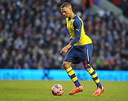 Arsenal's Kieran Gibbs during the The FA Cup match between Brighton and Hove Albion and Arsenal at the American Express Community Stadium, Brighton and Hove, England on 25 January 2015. Photo by Phil Duncan.