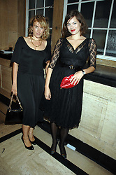 CYNTHIA RAINEY and her sister in law JASMINE GUINNESS at the M.A.C. Viva Glam party featuring a performance by Dita Von Teese of 'Lipteese' held at the Bloomsbury Ballroom, Victoria House, Bloomsbury Square, London on 27th June 2007.<br />