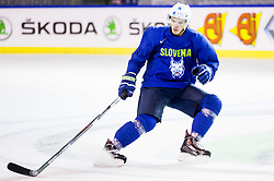 Nik Pem of Slovenia during practice session of Team Slovenia at the 2017 IIHF Men's World Championship, on May 8, 2017 in Accorhotels Arena in Paris, France. Photo by Vid Ponikvar / Sportida