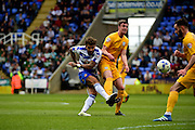 Reading Forward Danny Williams (23) takes a shot during the Sky Bet Championship match between Reading and Preston North End at the Madejski Stadium, Reading, England on 30 April 2016. Photo by Jon Bromley.