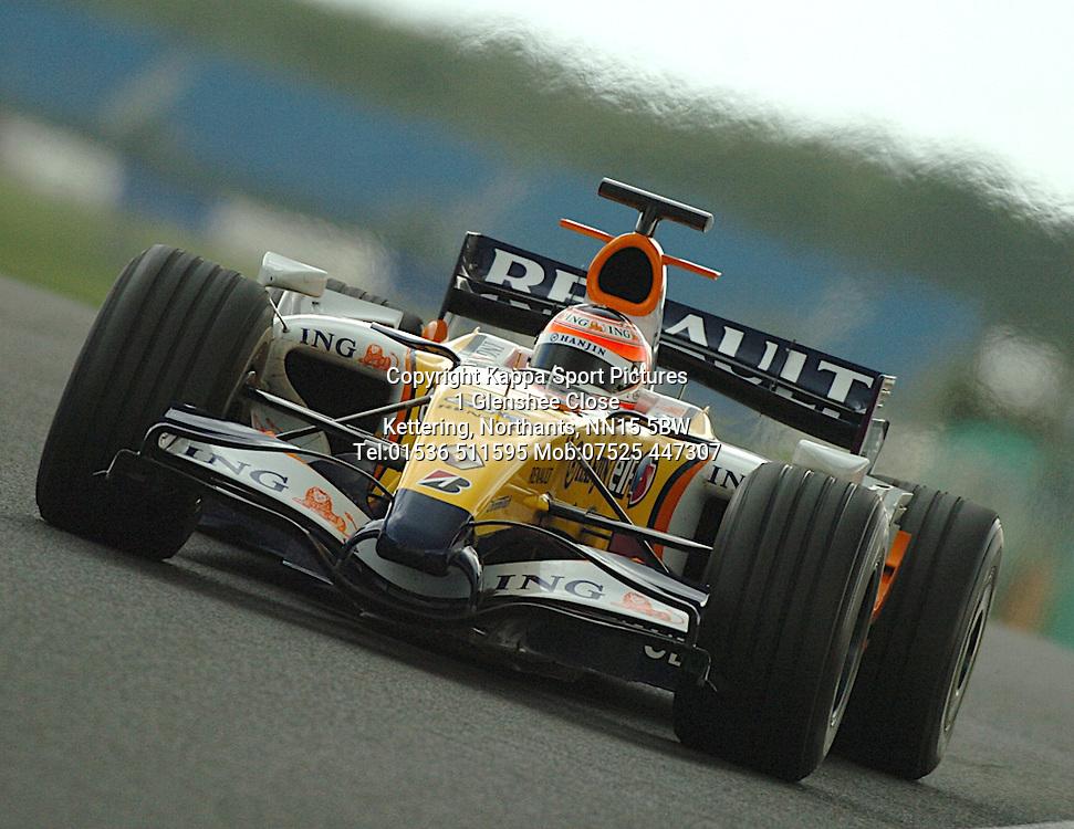 HEIKKI KOVALAINEN Renault F1,  Formula One Test Silverstone June 2007 :Photo:Mike Capps