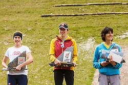 Best three Stranska Adela of Czech and Valentina Belotti & Confortolla Antonella of Italy Red Bull 400 Planica, on 17th of September, 2016, in Nordic center Planica, Slovenia. Photo by Grega Valancic / Sportida