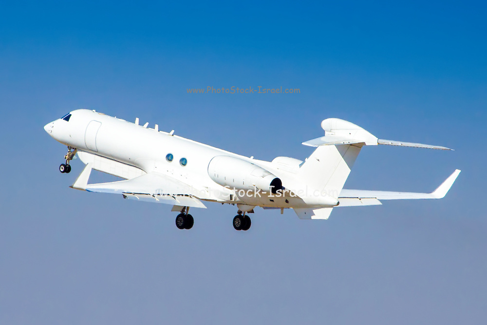 Israeli Air Force (IAF) Gulfstream G550 business jet aircraft produced by General Dynamics' Gulfstream Aerospace unit
