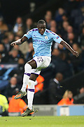 Manchester City defender Benjamin Mendy (22) during the Champions League match between Manchester City and Atalanta at the Etihad Stadium, Manchester, England on 22 October 2019.