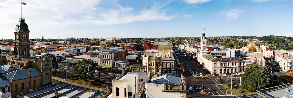 Panorama of central Ballarat from turret of Craig's Royal Hotel