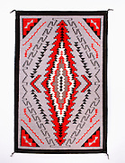 "0108-1040 ~ Copyright: George H. H. Huey ~ Navajo Indian Rug. Klagetoh style. 38"" x 59"".  Hubbell Trading Post National Historic Site. Arizona."