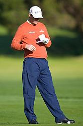 February 14, 2010; Pebble Beach, CA, USA;  Padraig Harrington on the second hole during the final round of the AT&T Pebble Beach Pro-Am at Pebble Beach Golf Links.