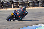 Motorbike racing in circuit. Photographed in Israel