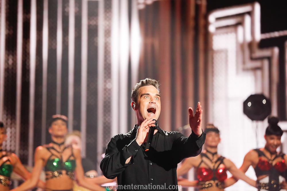 BRITs Icon Award 2016 - Robbie Williams,<br /> Troxy, London,<br /> Monday, 7, November, 2016,<br /> Photo Credit John Marshall - jmenternational.com