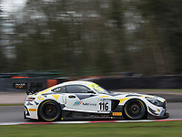 #116 ERC Sport Lee Mowle / Yelmer Buurman Mercedes-AMG GT3 Pro/AM during British GT Championship as part of the British GT and BRDC British F3 Championship at Oulton Park, Little Budworth, Cheshire, United Kingdom. March 31 2018. World Copyright Peter Taylor/PSP.