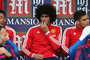 Marouane Fellaini of Manchester United during the Barclays Premier League match between Crystal Palace and Manchester United at Selhurst Park, London, England on 31 October 2015. Photo by Ellie Hoad.
