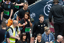 © Licensed to London News Pictures . 19/05/2019. Manchester, UK. Participants including Mayor ANDY BURNHAM , on Portland Street in Manchester City Centre at the start of the Great Manchester Run . Photo credit : Joel Goodman/LNP