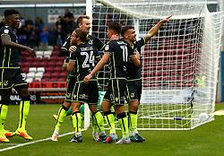 Dominic Telford of Bristol Rovers celebrates scoring a goal to make it 6-0 - Mandatory by-line: Robbie Stephenson/JMP - 07/10/2017 - FOOTBALL - Sixfields Stadium - Northampton, England - Northampton Town v Bristol Rovers - Sky Bet League One