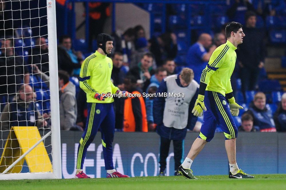 Petr CECH / Thibaut COURTOIS - 11.03.2015 - Chelsea / Paris Saint Germain - 1/8Finale Champions League<br />Photo : Johnny Fidelin / Icon Sport
