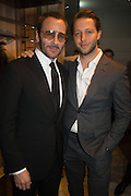 TOM FORD; DEREK  BLASBERG, Tom Ford cocktail and preview of Tom Ford's Spring-Summer 2016 Menswear Collection. 201-202 Sloane St. London. 14 June 2015