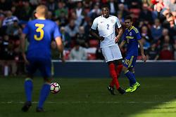 Dominic Iorfa of England U21 in action - Rogan Thomson/JMP - 11/10/2016 - FOOTBALL - Bescot Stadium - Walsall, England - England U21 v Bosnia and Herzegovina - UEFA European Under 21 Championship Qualifying.